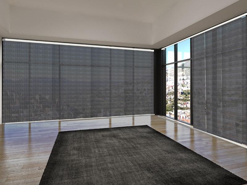 Panel japonés screen 3500 ignífugo gris plata gris oscuro