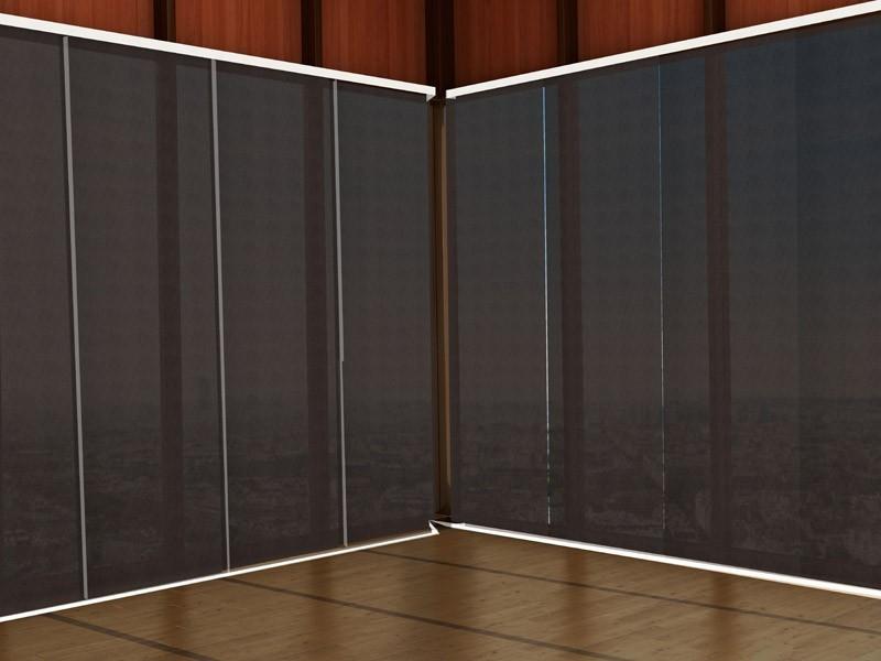 Panel japonés screen 5000 ignífugo negro gris oscuro