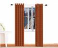 cortina decorativa alpaca zeus herrumbre oscuro