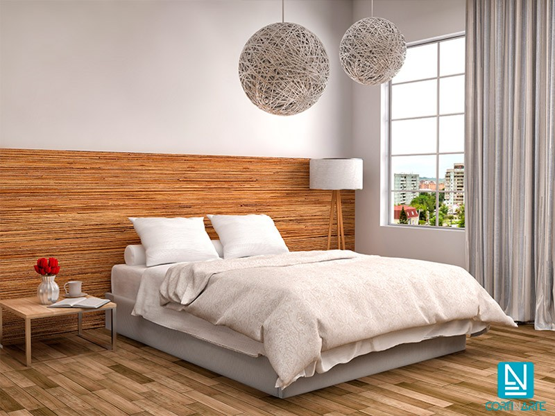 cortina opaca apolo ignífugo lino dormitorio