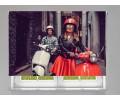 Estor enrollable FOTOGRAFIA mujeres scooter