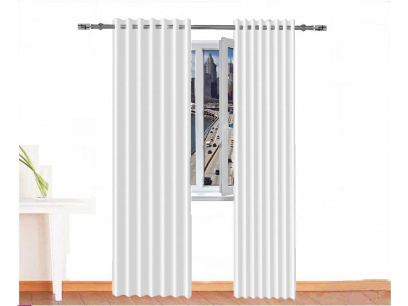 Cortina opaca SOBEK resina acrílica color blanco