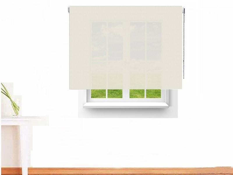 Estor enrollable Screen ignífugo 4000 color blanco lino