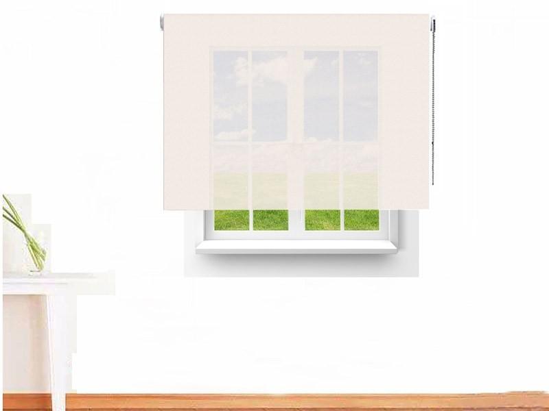 Estor enrollable Screen 6000 ignífugo color blanco lino