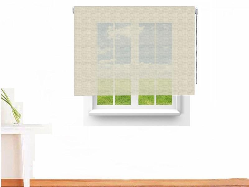 Estor enrollable Screen ATENEA ignífugo color gris blanco hueso