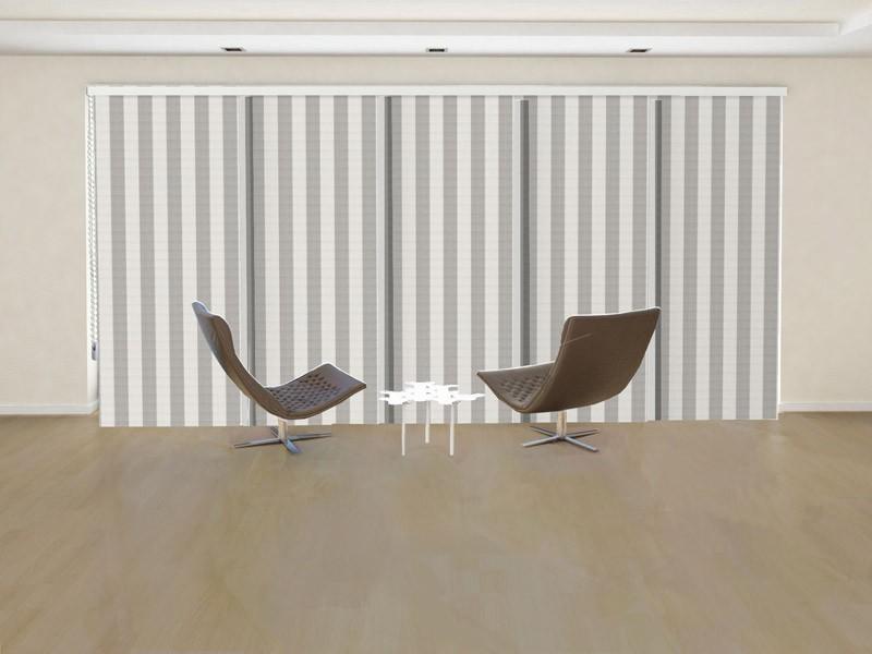 Panel japonés decorativo THOR solo tela color blanco ocre