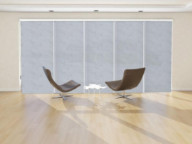 Panel japonés decorativo ZEUS color gris