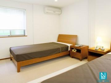 Estor enrollable traslúcido AFRODITA blanco dormitorio