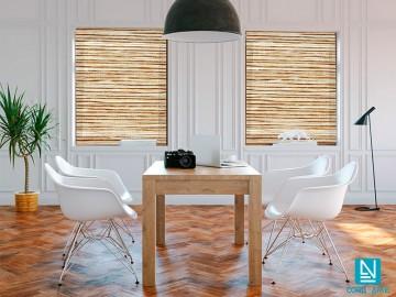 Estor enrollable traslúcido WOOD madera clara