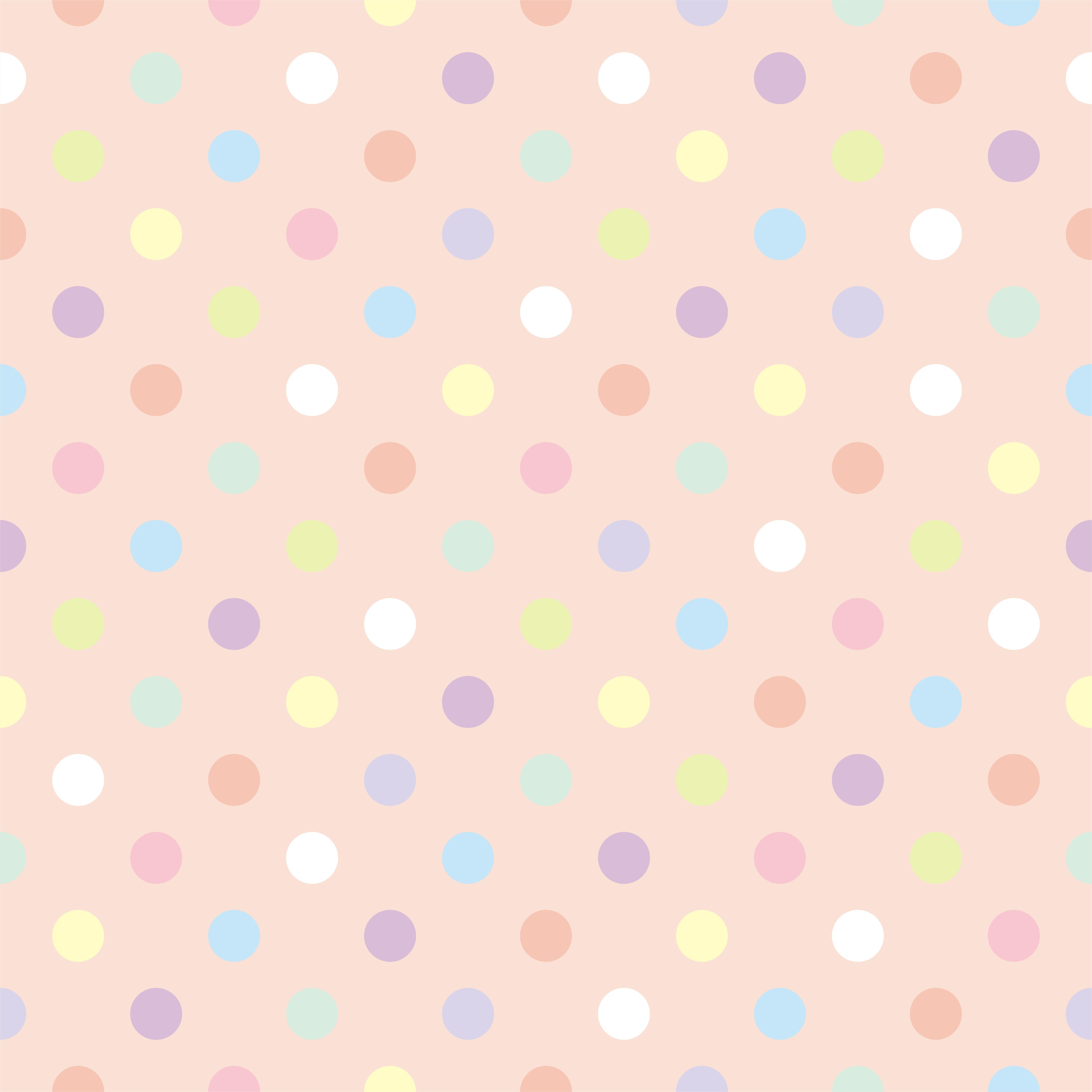 polka dots color INFANTIL