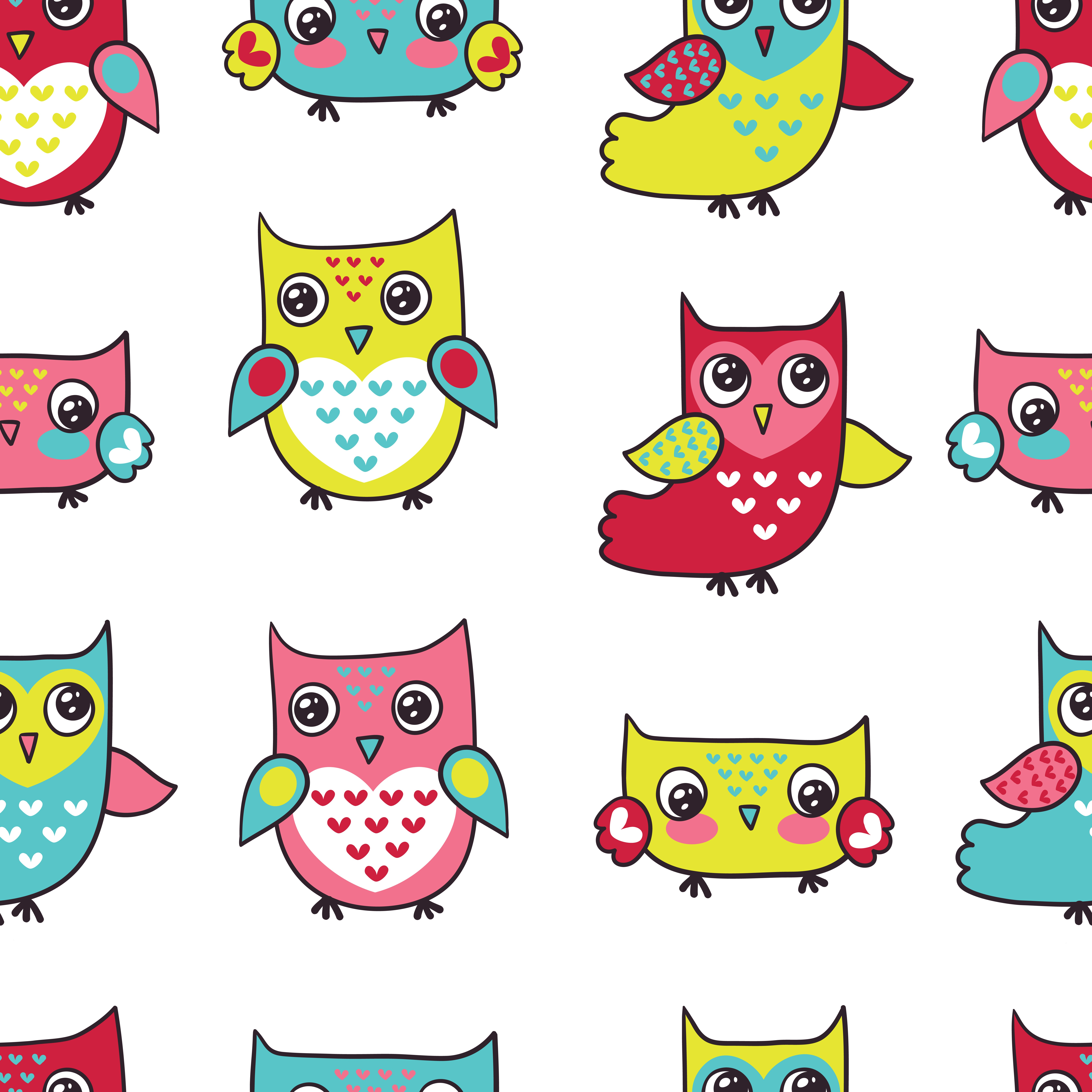 little owls pattern INFANTIL