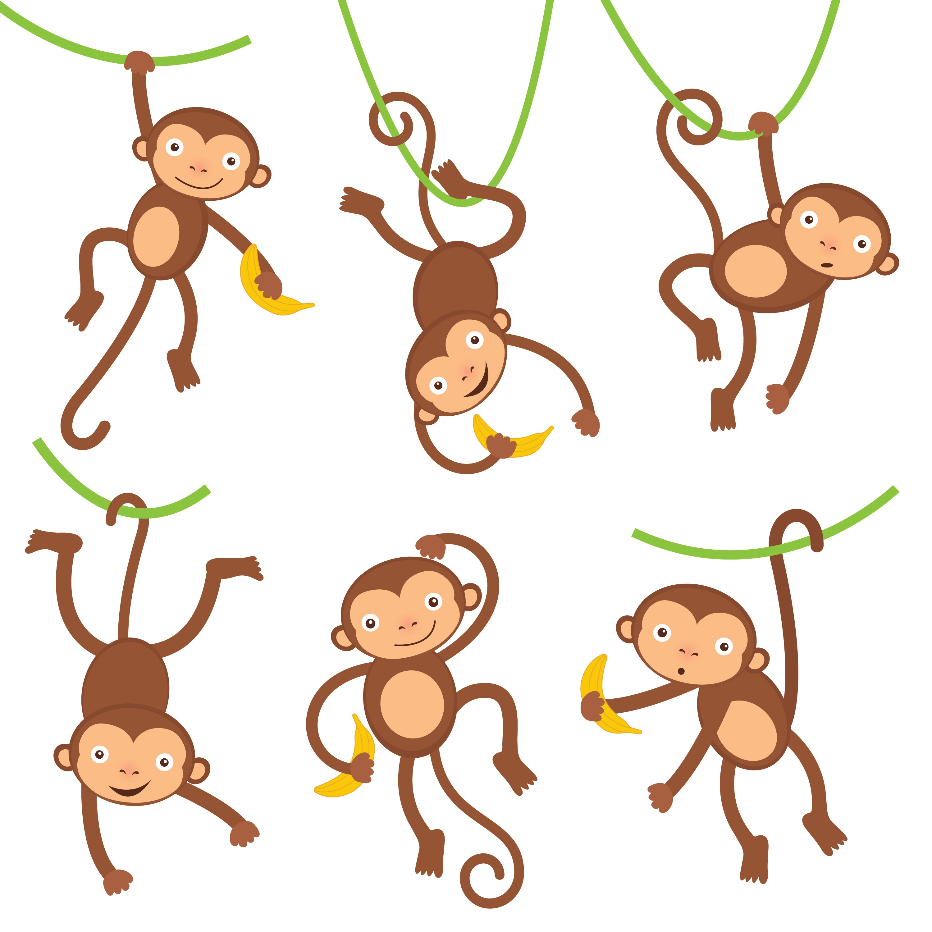funny monkeys INFANTIL