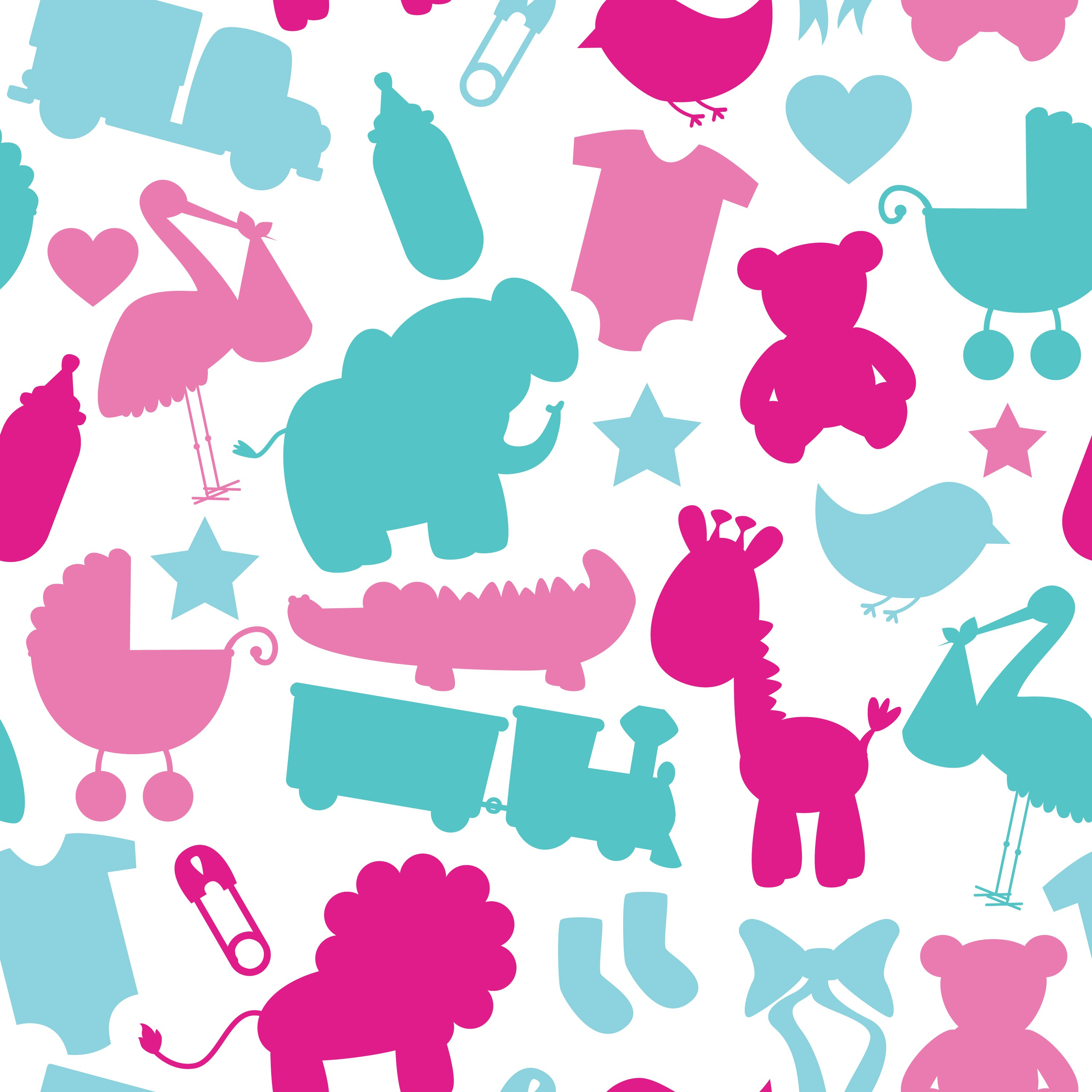 baby shower pattern INFANTIL
