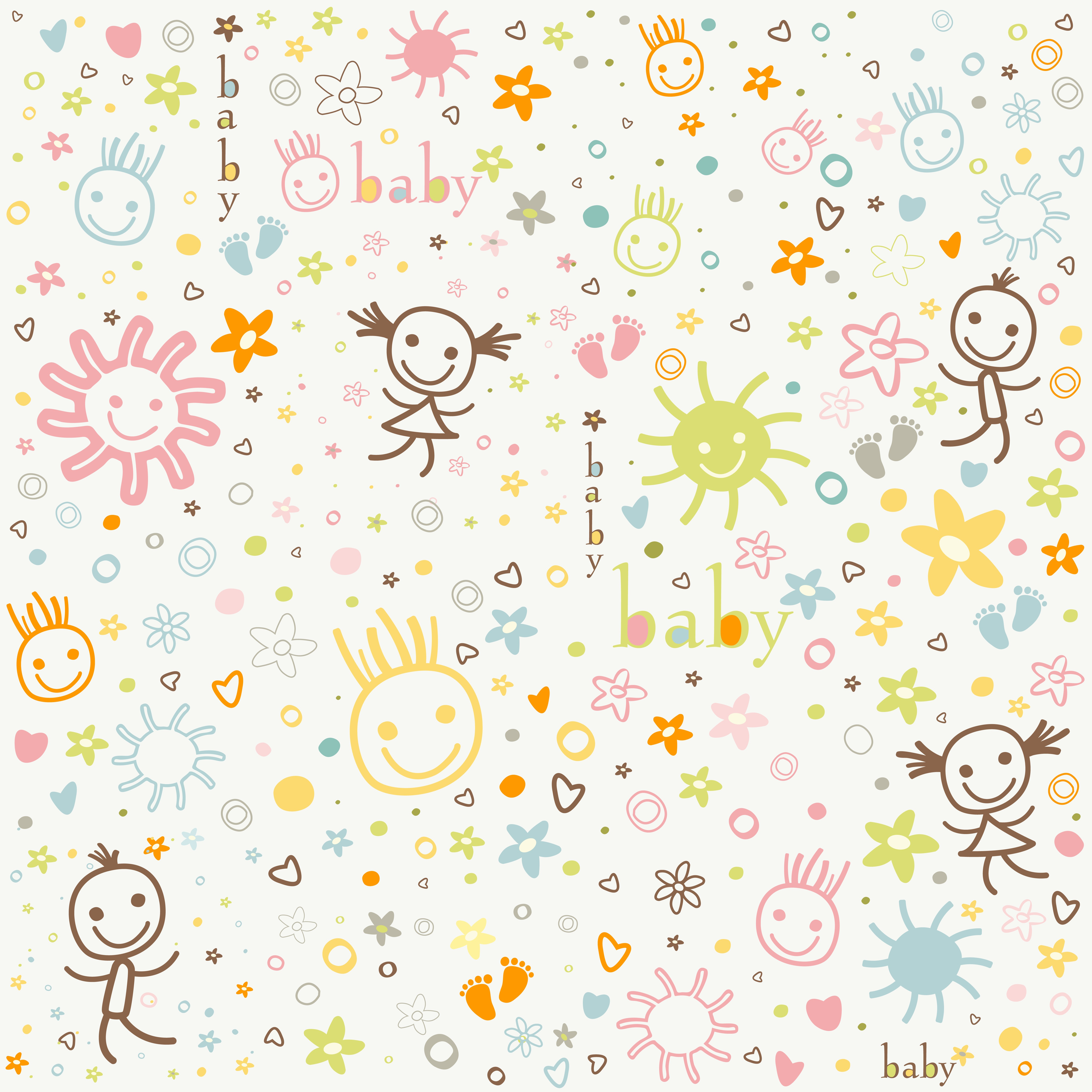 baby shower pattern 7 INFANTIL