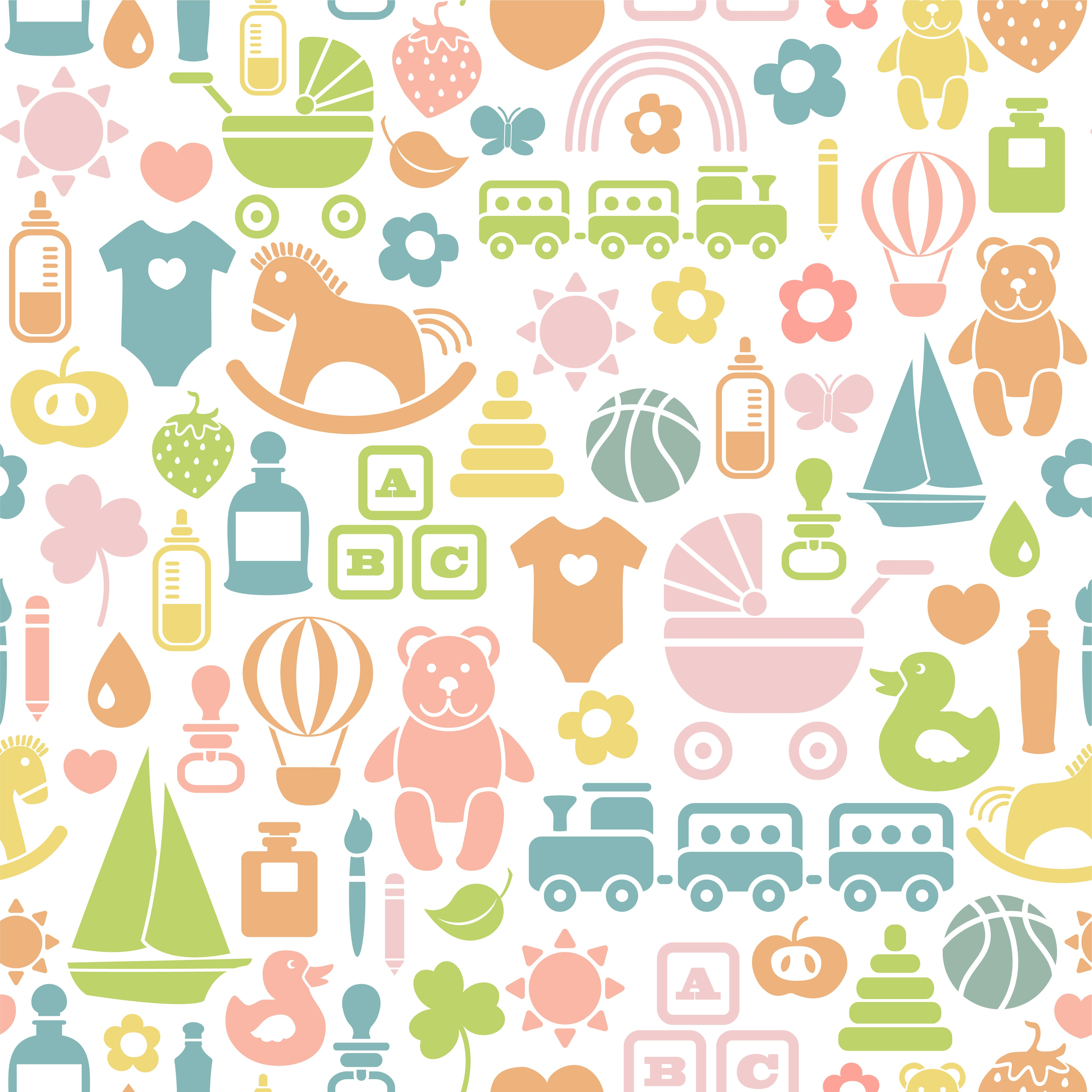 children icons pattern 3 INFANTIL